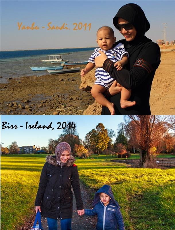 Bersama anak ke-2 yang lahir d Arab Saudi dan kini besar di Irlandia