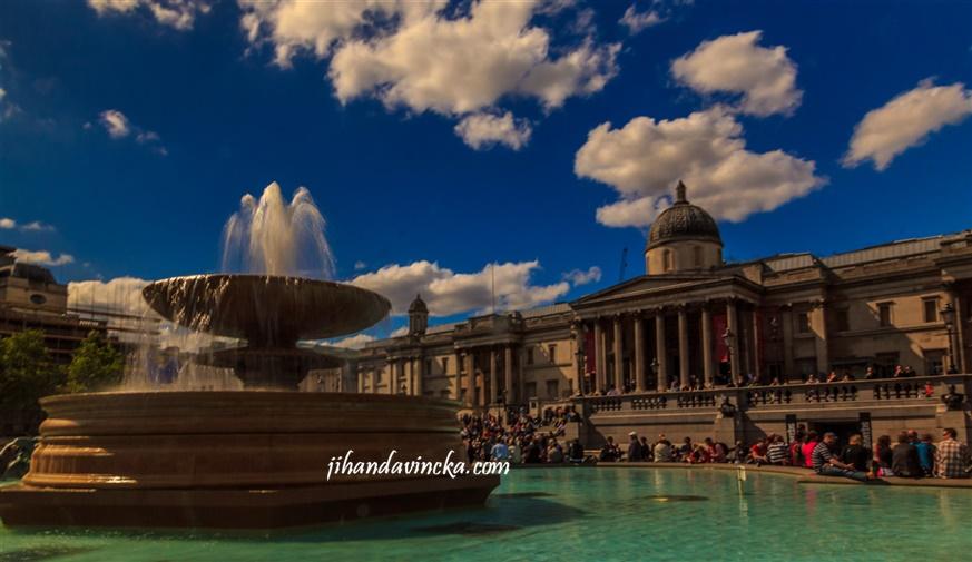 Jalan jalan ke Trafalgar Square London, foto : Dani Rosyadi
