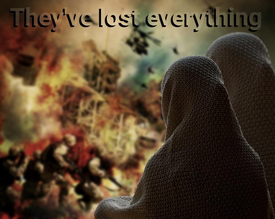 Perang dan bencana penderitaan besar (gambar : pixabay.com)