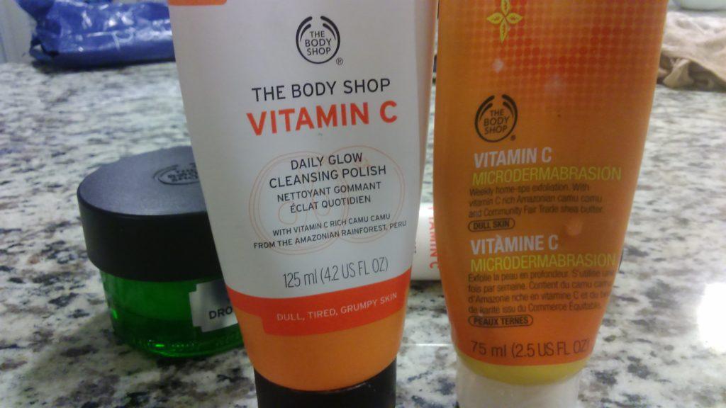 Sabun Cuci muka yang bagus vitamin c body shop