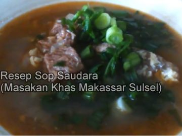resep sop saudara khas makassar