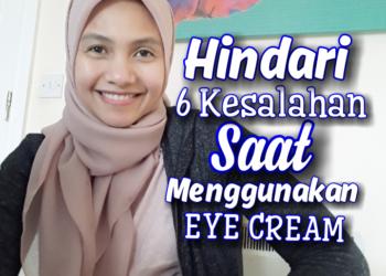 Cara menggunakan eye cream